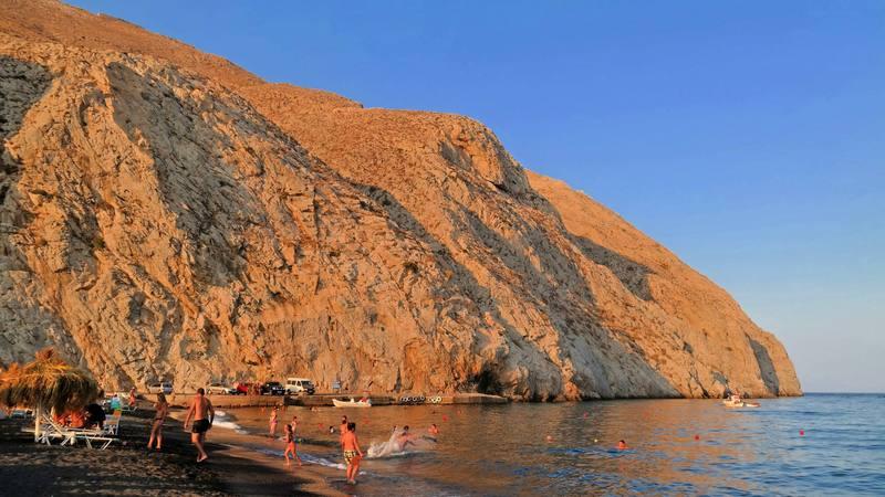 Greece Day 6: Postcard from Perissa Beach