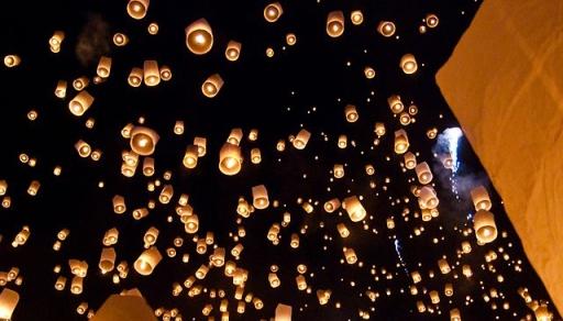 Releasing Sky Lanterns