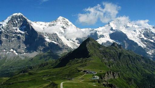 Eiger, Mönch and Jungfrau from Männlichen, Switzerland