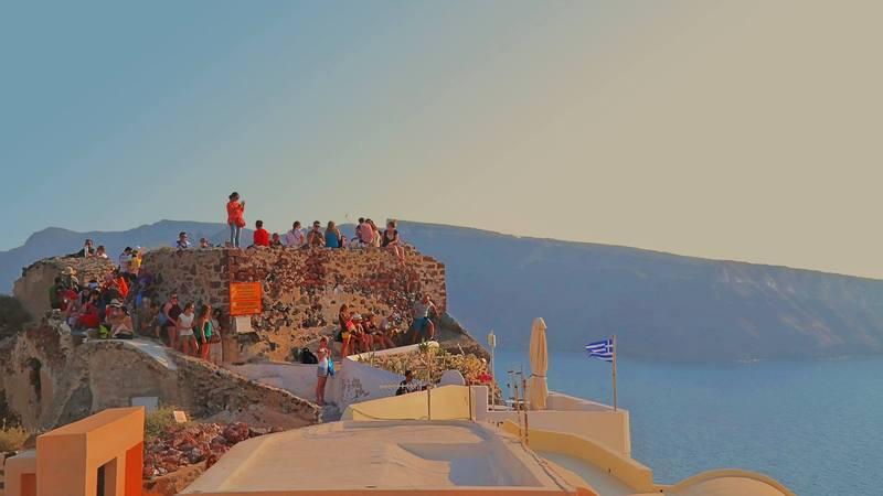 Agios Nikolaos Castle, Oia, Santorini, Greece