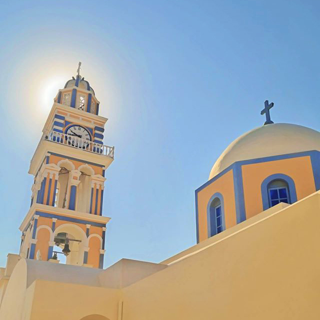 Catholic Church, Fira, Santorini, Greece