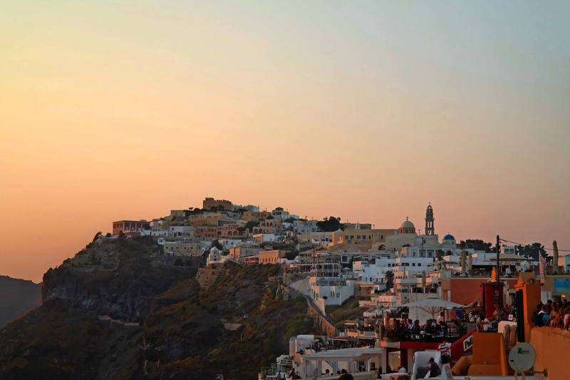Fira Sunset, Santorini, Greece