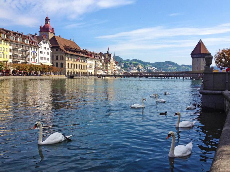 Reuss River, Lucerne, Switzerland