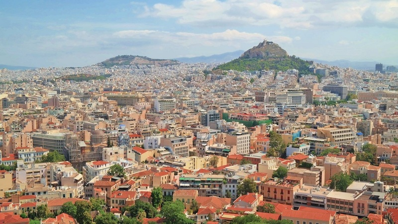 Greece Day 9: Athens Skyline, a Reversed Perspective