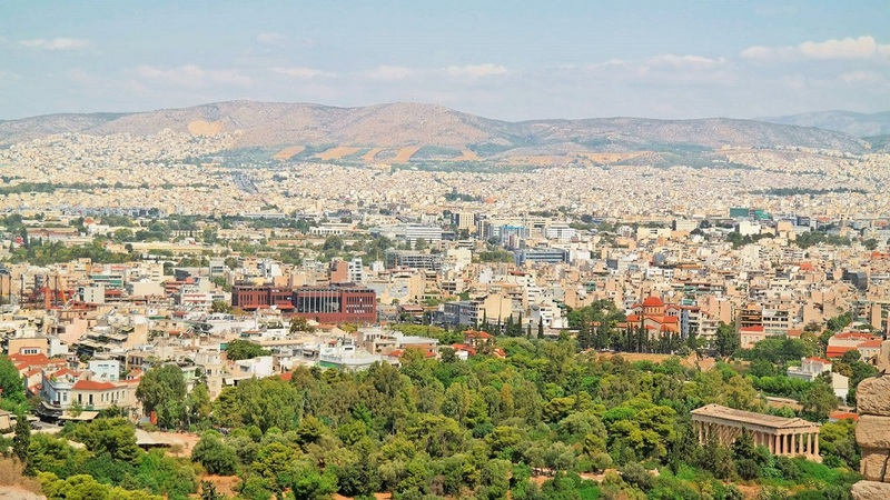 Athens skyline as seen from Acropolis, Greece