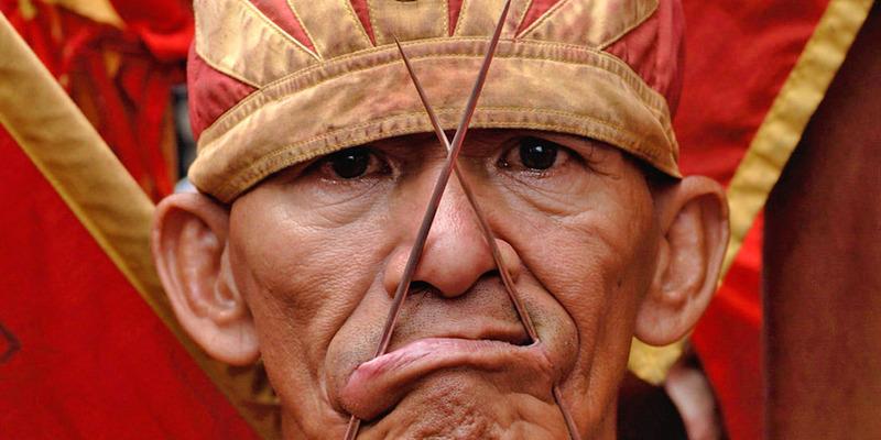 Tatung Parade at Cap Go Meh Festival, Singkawang, Kalimantan, Indonesia