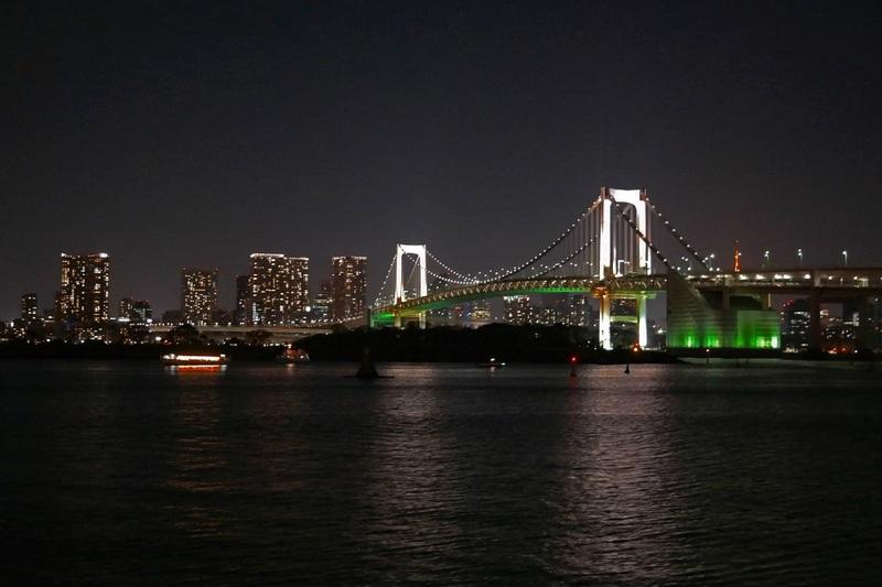 Rainbow Bridge, Odaiba, Tokyo, Japan