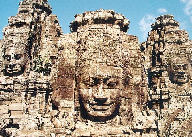 Bayon in Siem Reap Cambodia