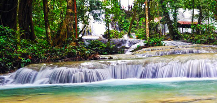 Saluopa Waterfall, Central Sulawesi, Indonesia