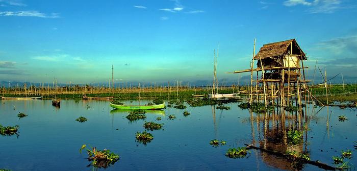 Limboto Lake, Gorontalo, Indonesia