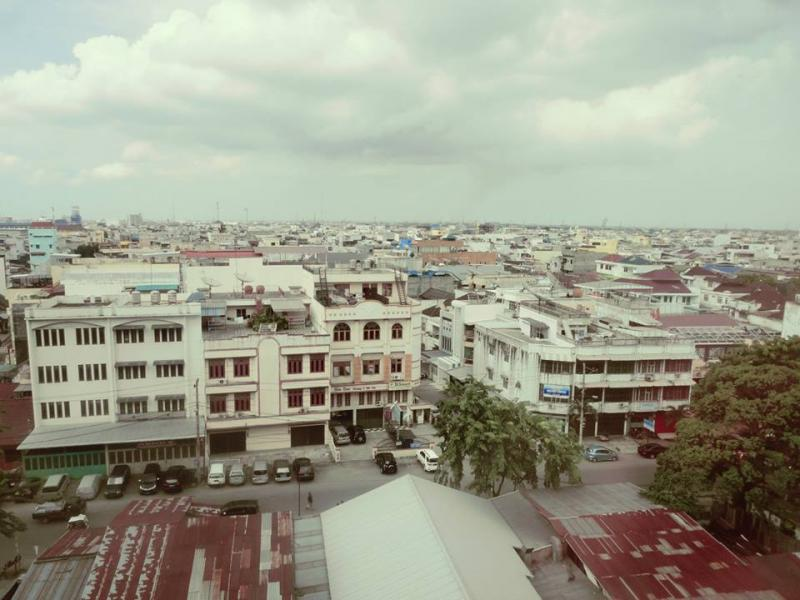 Medan city skyline