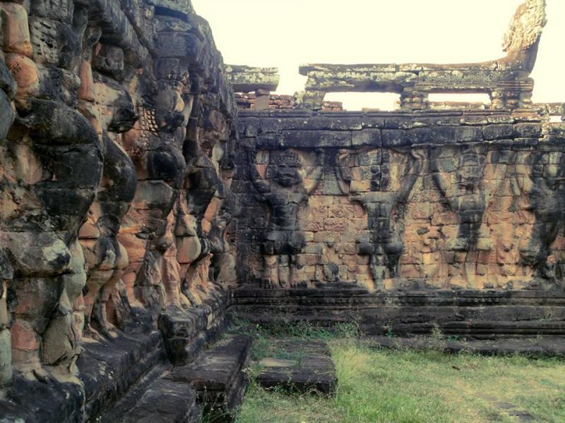 Terrace of the Elephants, Angkor Thom, Siem Reap, Cambodia