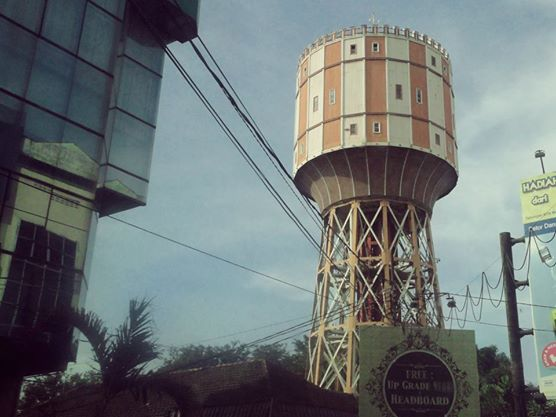 Tirtanadi Water Tower in Medan, Indonesia