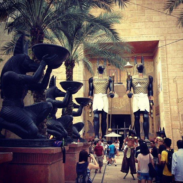 Ancient Egypt in Universal Studios Singapore of Resorts World Sentosa