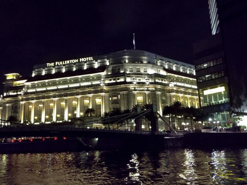The Fullerton Hotel as seen during Singapore River Cruise
