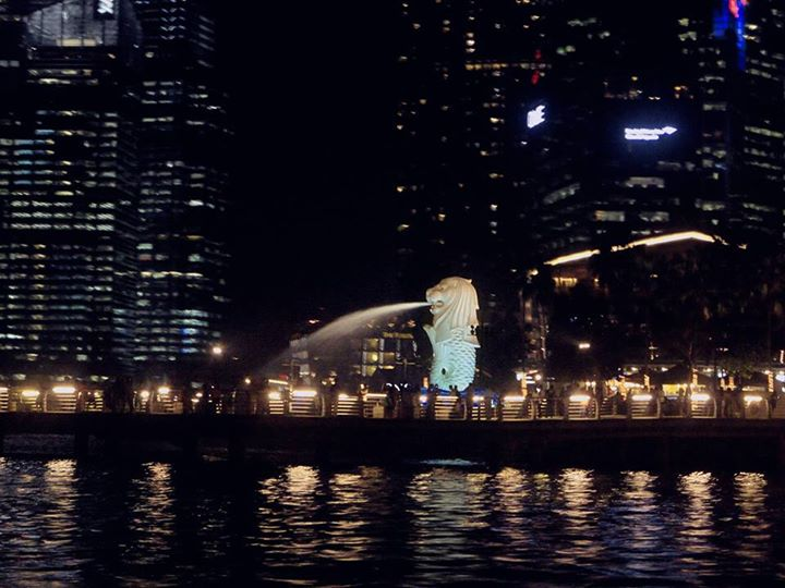 Merlion Park as seen during Singapore River Cruise