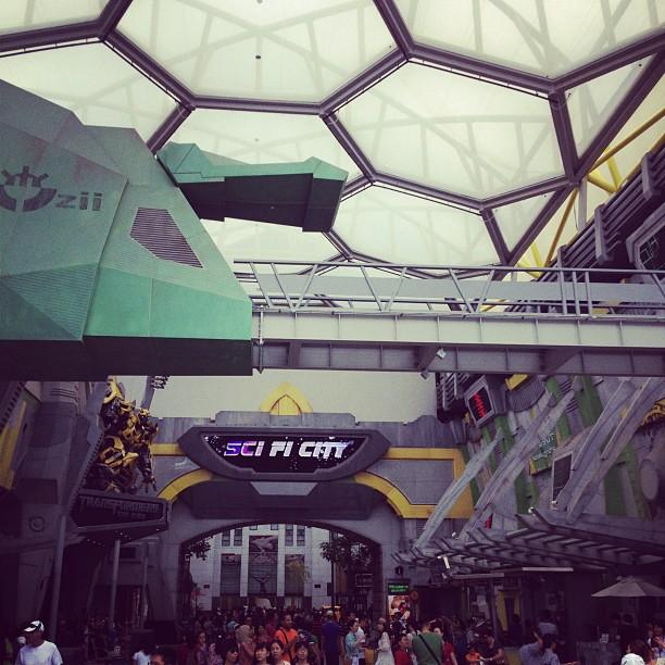 Sci-Fi City in Universal Studios Singapore of Resorts World Sentosa