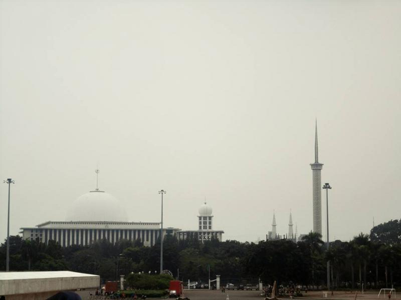 Central Jakarta, Indonesia as seen from Monas