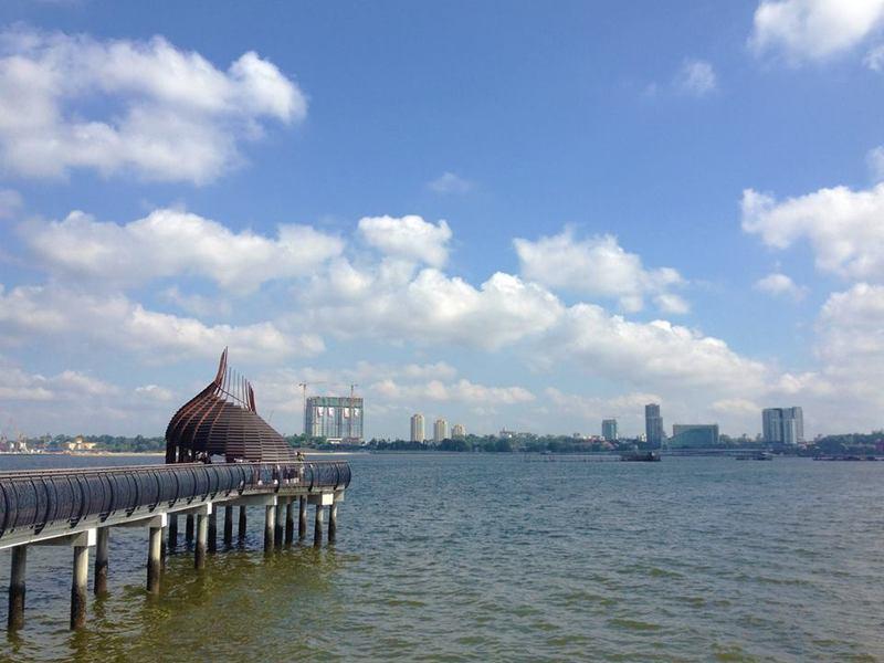Johor Bahru (Malaysia) as seen from Sungei Buloh Wetland Reserve, Kranji Countryside, Singapore