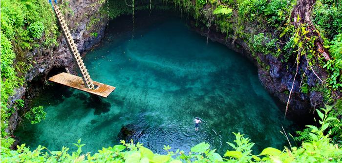 Tosua Ocean Trench, Upolu Island, Samoa