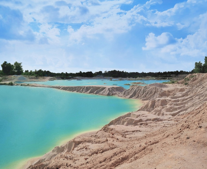 Kaolin Lake, Belitung, Indonesia