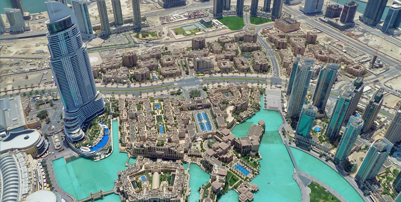 Dubai as seen from Burj Khalifa, United Arab Emirates
