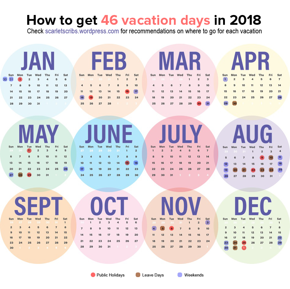 10 Holiday Ideas for 2018 SG Long Weekends – Scarlet Scribbles