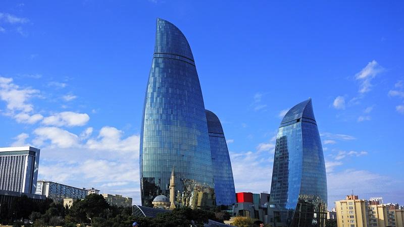 Flaming Towers, Baku, Azerbaijan