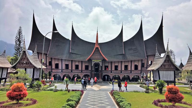 Rumah Gadang, Minang Kabau Village, Padang, West Sumatra, Indonesia
